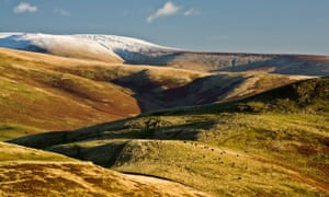 The Cheviot seen from near the summit of Wideopen Hill in the Scottish Borders