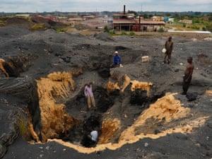 black mountain slag heap Kabwe