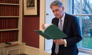 Philip Hammond reading his autumn statement