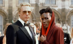 Christopher Walken and Grace Jones as Max Zorin and May Day