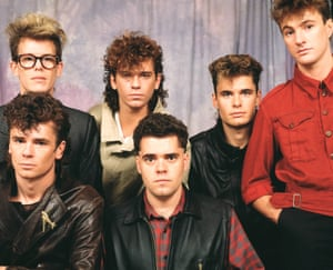 INXS studio group portrait, circa 1983