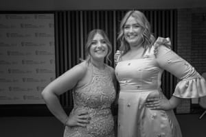 Sisters Ellie and Izzie Warner from Gogglebox - nominated for a Must See Moment for reactions to Boris Johnson's news conference
