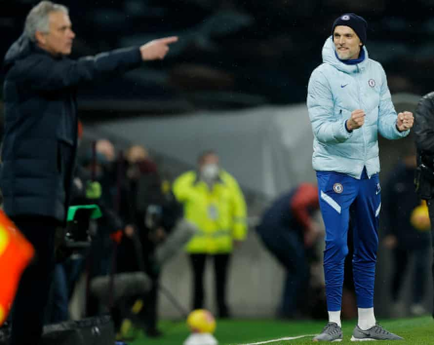 Thomas Tuchel Manger of Chelsea celebrates his teams win at the end of the match