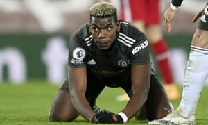 Manchester United's Paul Pogba reacts after failing to score.