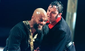 'He's never quite at home': Ray Fearon as Othello and Richard McCabe as Iago in the RSC's 1999 production.