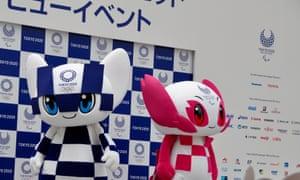 Tokyo 2020 Olympics and Paralympics mastcots Miraitowa and Someity.