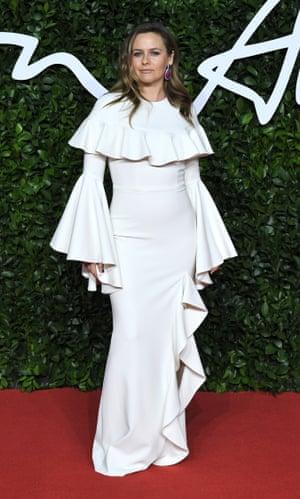 Alicia Silverstone wearing Christian Siriano.