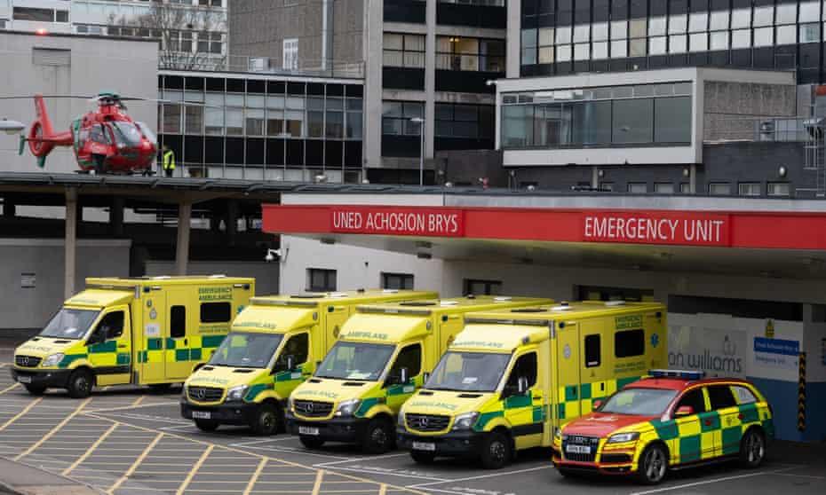 Ambulances in Cardiff