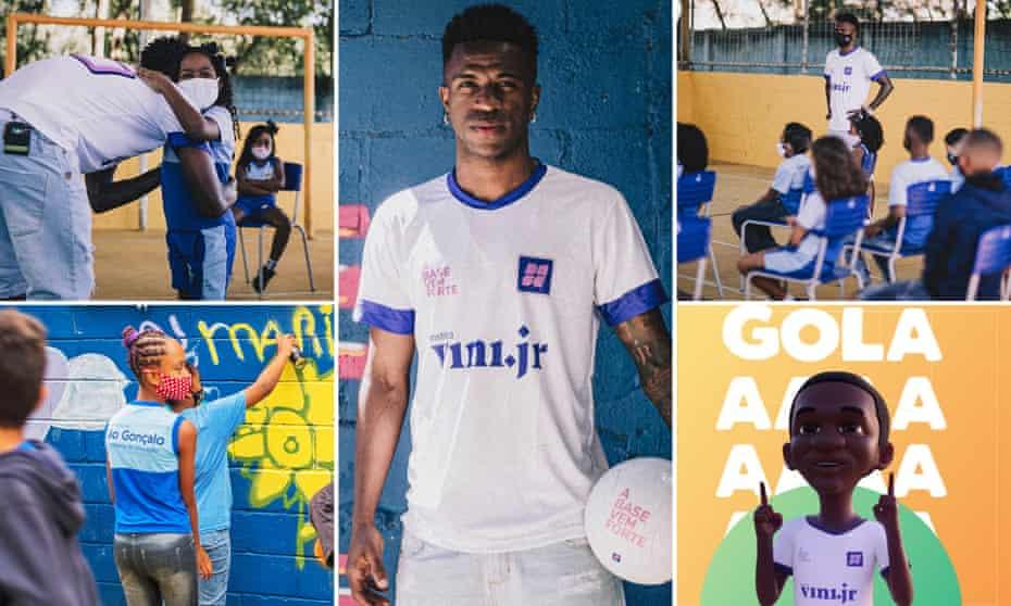 Vinicius Junior wants to help children across Brazil get a better education.