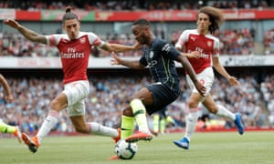Raheem Sterling terrorised Arsenal's defence during his side's comfortable victory at the Emirates Stadium.