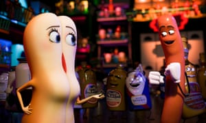 'A lot of pornographic references' … Sausage Party – given a 15 certificate.