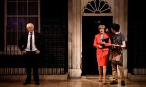 Wax figures of Theresa May and Boris Johnson