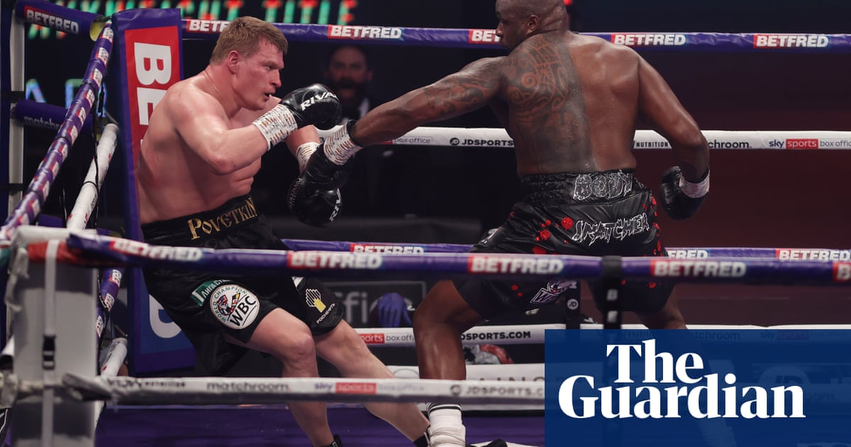 Dillian Whyte back at the centre of solitary world of heavyweight boxing   Donald McRae