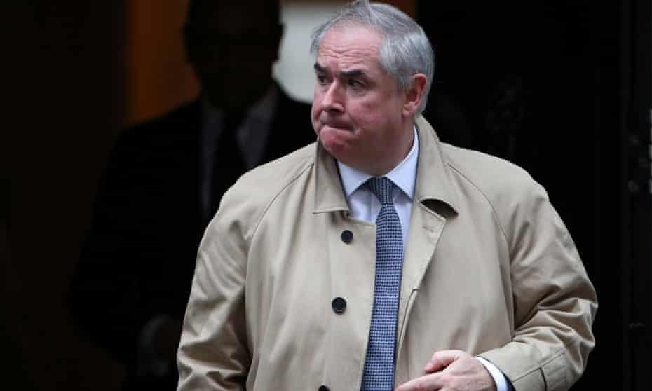 Geoffrey Cox outside 10 Downing Street