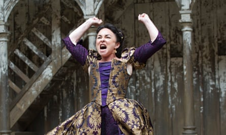 Samantha Spiro as Kate in The Taming of the Shrew, 2012