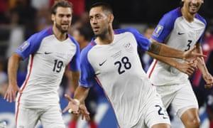 Clint Dempsey equalled Landon Donovan's goalscoring record on Saturday