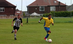 Pierre-Emerick Aubameyang 'gliding across the pitch' for Gabon's Olympic football team against Heaton Stannington at Grounsell Park in Newcastle.