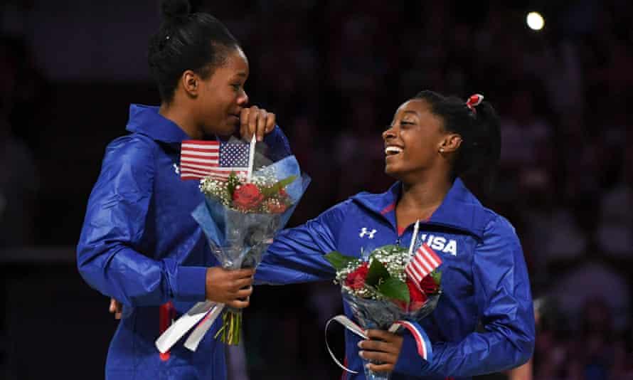Gabby Douglas and Simone Biles are part of a formidable USA women's gymnastics team.
