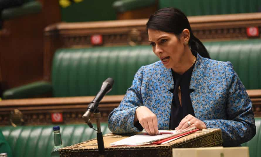 Home secretary Priti Patel speaks in the House of Commons