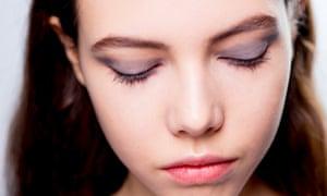 Model with grey eye shadow