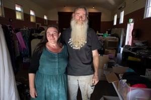 Veronica and Warren Abbott who run the Quaama relief centre at the Quaama school of arts in the electorate of Eden Monaro.