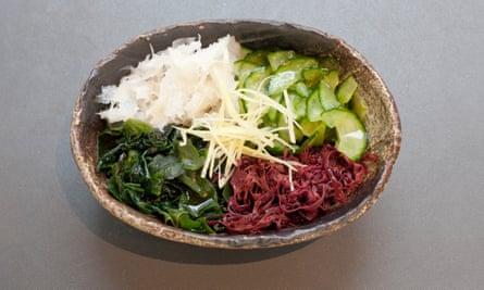 'Tastes like you imagine Ben Ainslie smells after three laps around a choppy bay': seaweed cucumber salad.