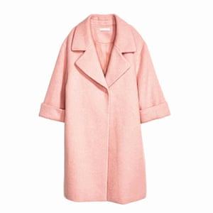 pale pink coat H&M