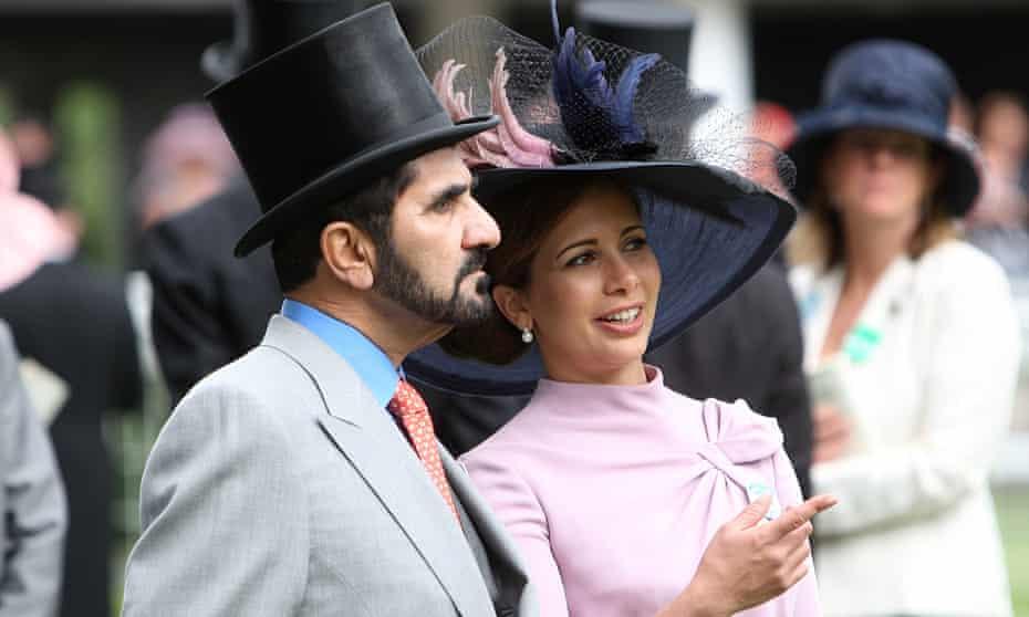 Sheikh Mohammed Bin Rashid Al Maktoum and HRH Princess Haya Bint Al Hussein at Ascot Racecourse, Berkshire in June 2000.