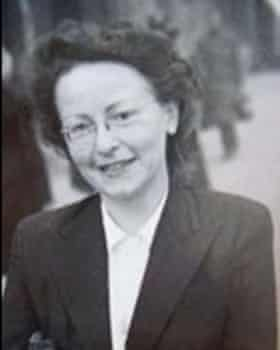 Brunhilde Pomsel in a suit given to her by Magda Goebbels