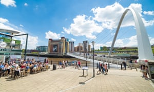 A view of Newcastle Quayside in the sunshine.