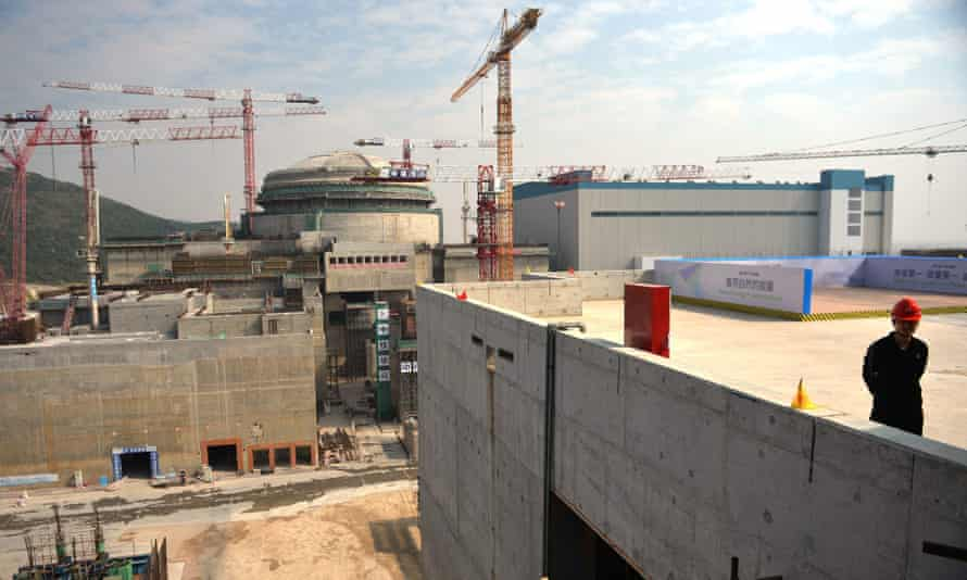 The Taishan nuclear power station under construction in 2013.