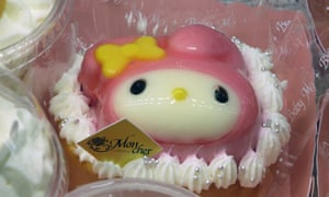 Pretty patisserie … a My Melody jelly cake at Daimaru, Tokyo.