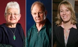 Action against plastic … Jacqueline Wilson, Michael Morpurgo and Lauren St John of Authors4Oceans.