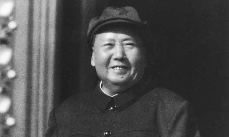 Mao Zedong observes Cultural Revolution inspired Red Guards assembled in Beijing's Tiananmen Square in 1966.