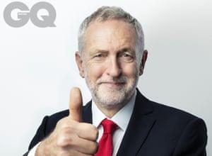 Jeremy Corbyn shot for GQ