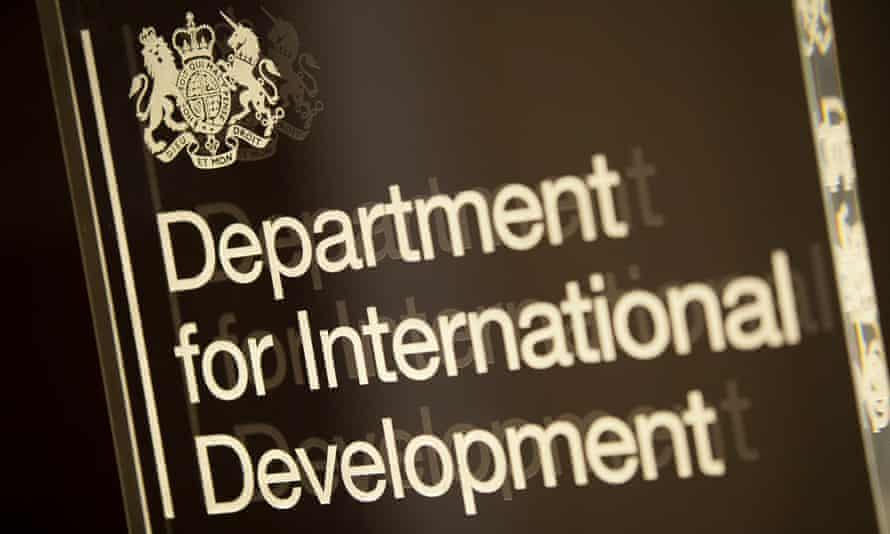 Sign for DfID Department for International Development. London