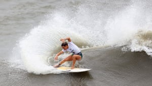 Sally Fitzgibbons of Australia in action during Heat 4