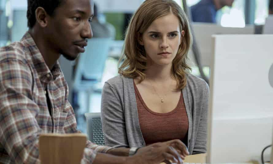 Mamoudou Athie and Emma Watson in the 2017 film The Circle.