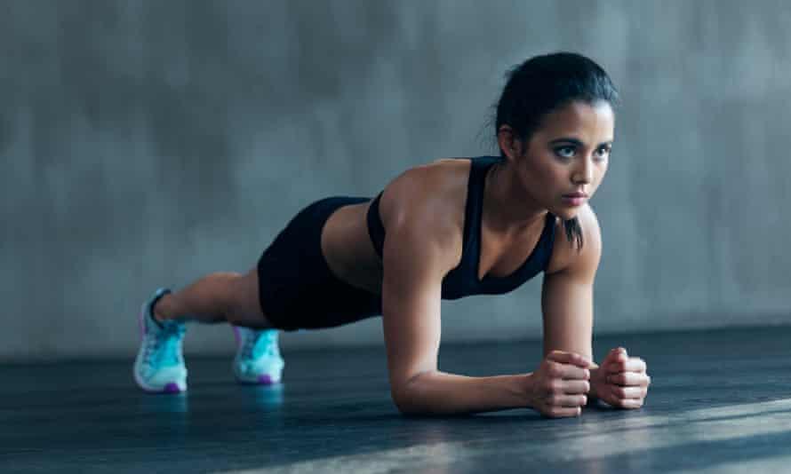Hold the core ... how to do the plank.