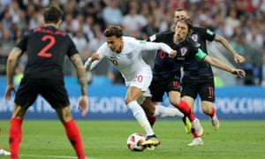 Deli Alli is fouled by Luka Modric on the edge of the box.