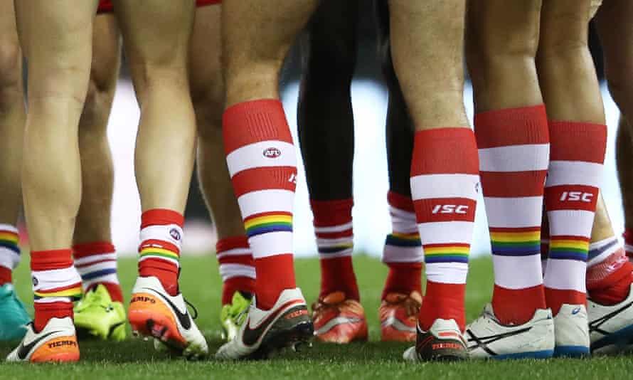 Sydney players wear rainbow socks
