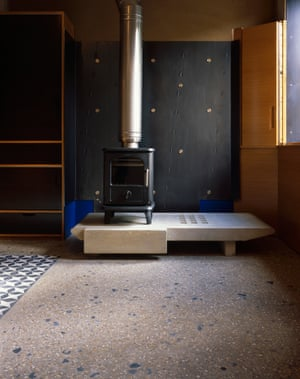 A 'nice sense of temperature comes from the use of tiles and concrete around hearths'.