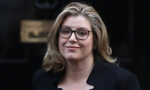Penny Mordaunt arriving at Number 10 for cabinet this morning.