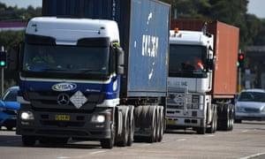 Trucks in Sydney