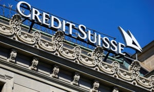 The logo of Swiss bank Credit Suisse is seen at its headquarters in Zurich, Switzerland March 24, 2021.