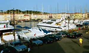 Yachts and cruisers in Saint-Tropez harbour.