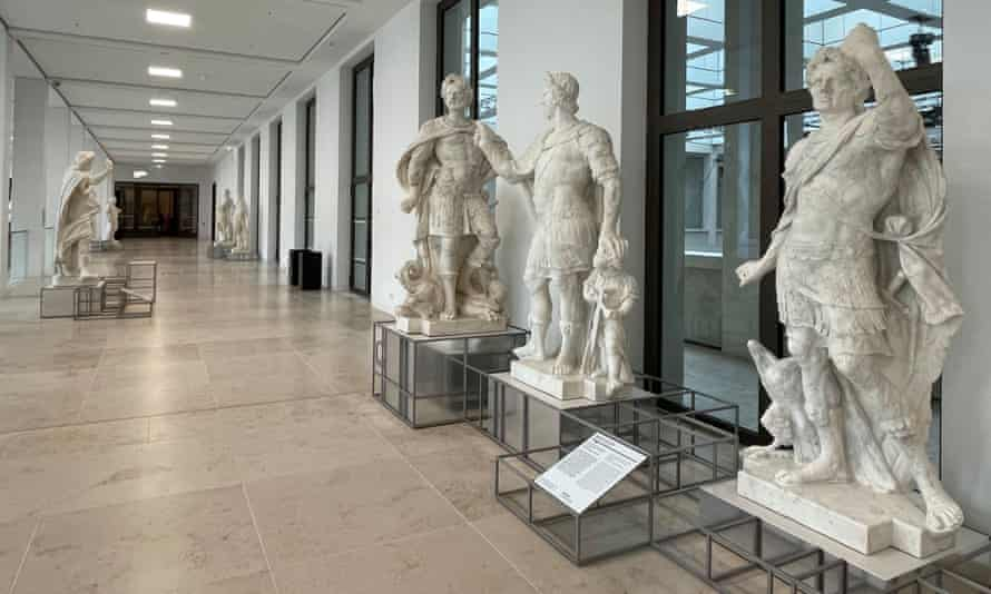 Restored statues of Prussian princes line its the building's halls.