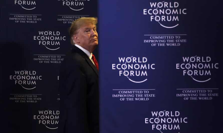 Donald Trump's economic optimism was on show at Davos in January