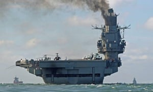 The Russian aircraft carrier Admiral Kuznetsov created waves in October as it travelled through the Channel to join the Russian anti-Islamic State operations in Syria.