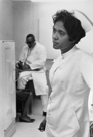 Nurse Ora Bouie and doctor at Tufts Delta Health Clinic Mound Bayou, Mississippi, 1968 by Doris Derby.